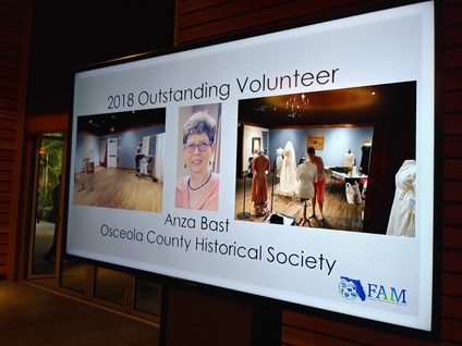Anza Bast Receives FAM Outstanding Volunteer Award