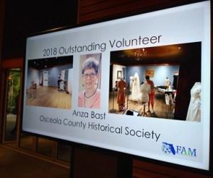 Anza Bast Receives FAM Outstanding Volunteer Award