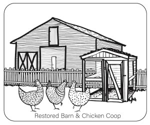 Pioneer Village Coloring Pages