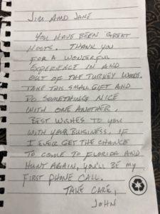 Dear John - Osceola Turkey Hunts