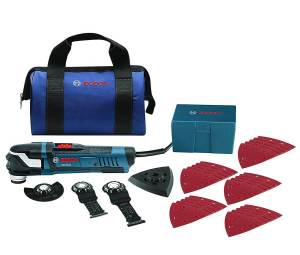 Bosch GOP40-30B Starlock Plus Oscillating Multi-Tool Kit with Snap-In Blade Attachment