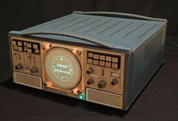 Tektronix 520A VectorClock - brilliant blend of the old and new!