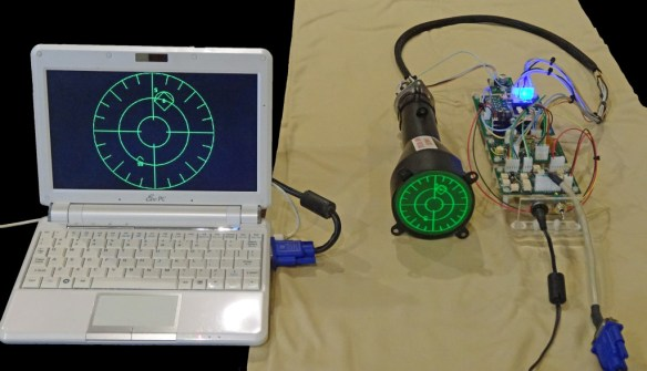 Oscilloclock 3-inch CRT VGA Display Assembly - overview