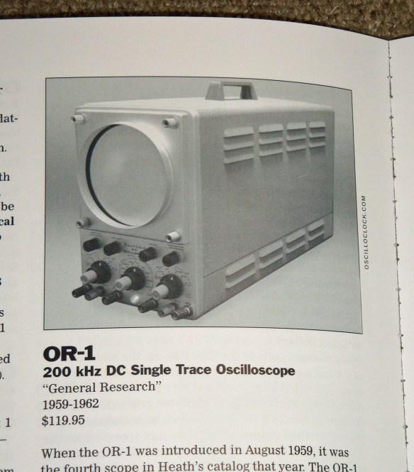 Oscilloclock Heathkit OR-1 in Chuck Penson's Heathkit Test Equipment Products book 1