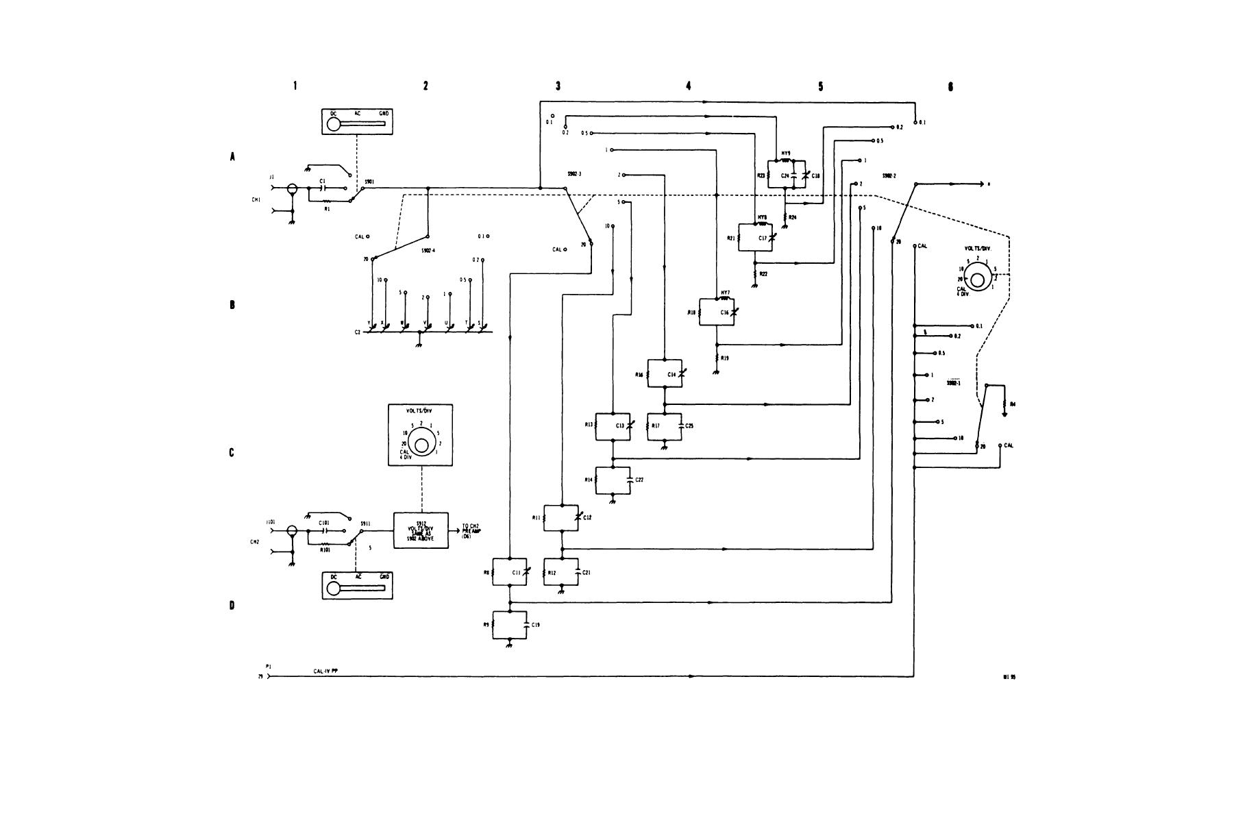 Figure 4 4 1 Dual Trace Plug In Type 79 02a Functional Schematic Sheet 2 Of 4