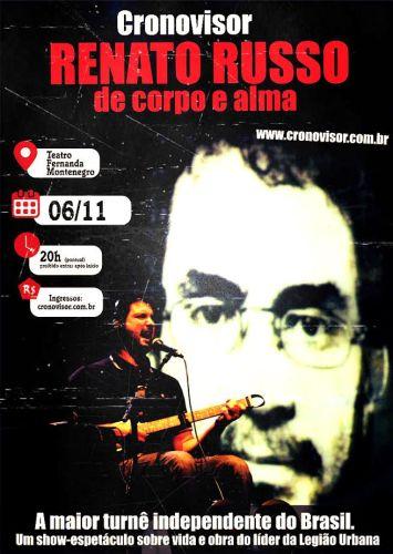 Theatro Fernanda Montenegro recebe show sobre vida de Renato Russo