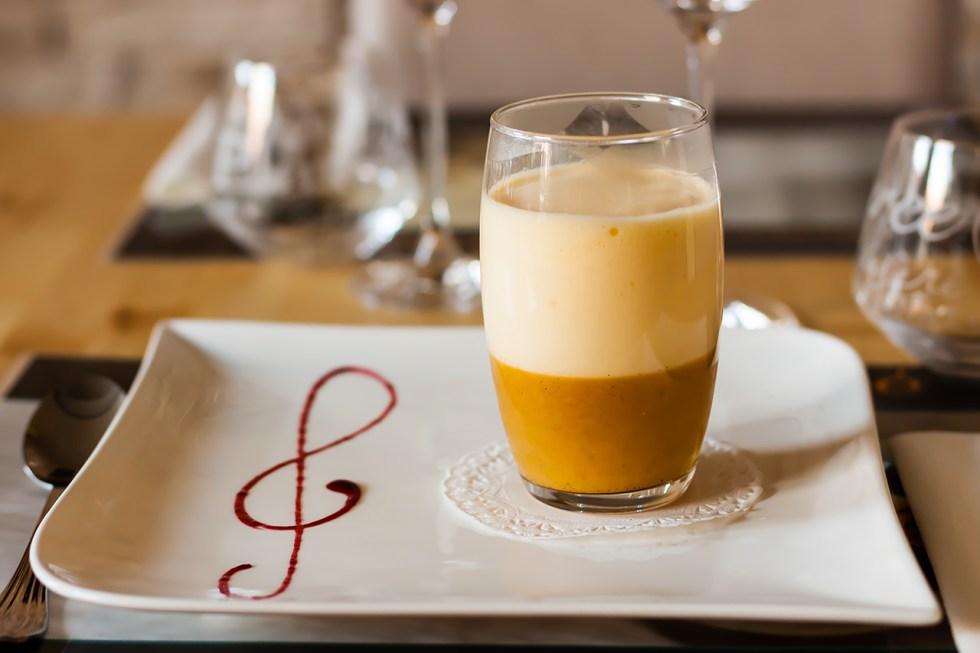 Gelée d'orange à la vanille et sabayon au champagne