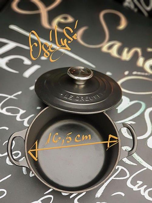 Cocotte ronde LE CREUSET en fonte 16 cm