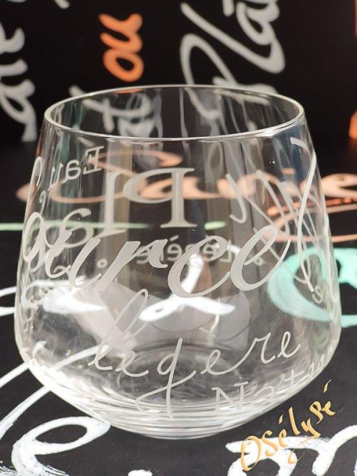 Verre à eau en cristallin gravé