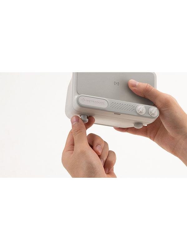 RETRODUCK Q - Chargeur sans Fil Rapide, Mono White (Blanc)