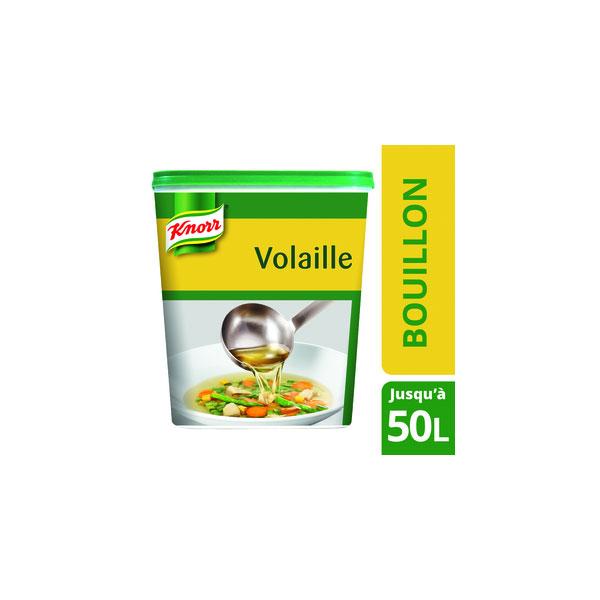 KNORR - Bouillon de Volaille Déshydraté 1KG jusqu'à 50L