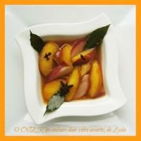 Ragoût de nectarines bi-colorées aux saveurs hivernales