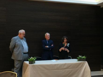 Avec Philippe Labro et Daniel Havis à la remise du prix Matmut du 1er roman 2014 pour mon roman, Racines mêlées