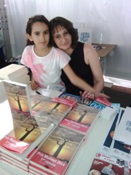 Fête du Livre du Var 2014, avec ma fille : épuisée mais heureuse