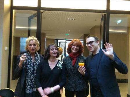 Joyeuse bande qui fait partie du jury : Catherine David, Caroline Casadesus, Jean-François Zygel