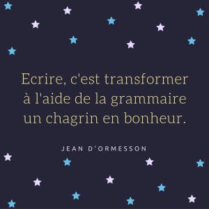 Jean d'Ormesson www.osez écrire votre roman.com