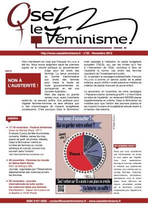 Journal 22 d'Osez le féminisme !
