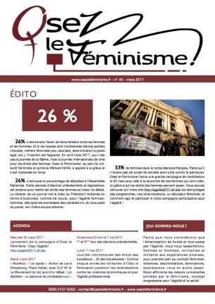 Journal 45 d'Osez le féminisme !