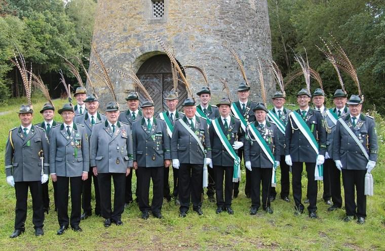 Offiziere und Unteroffiziere der 1. Kompanie im Jahr 2014
