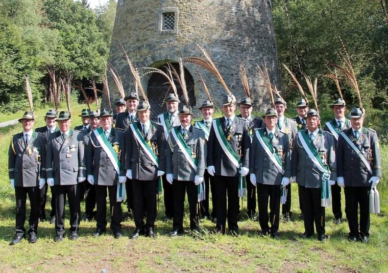 Die Offiziere und Unteroffiziere der 2. Kompanie im Jahr 2014