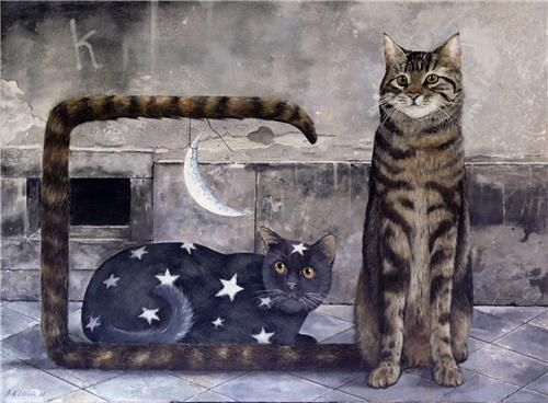Arte moderna com gatos: Marek Brzozowski