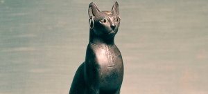 """""""Egyptian - Statue of a Seated Cat - Walters 54403 - Three Quarter"""" by Anonymous(Egypt)"""