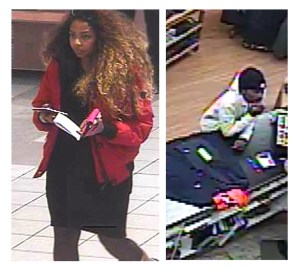 Police are seeking to identify these two people they say shoplifted thousands of dollars worth of merchandise in two stores at the Oshawa Centre.