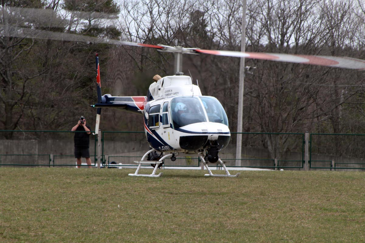 Durham police brought out all of the tools it has at its disposal to combat illegal street racing, including the force's Air-1 helicopter. It, along with York police's Air-2, did several fly bys of the track during the day.