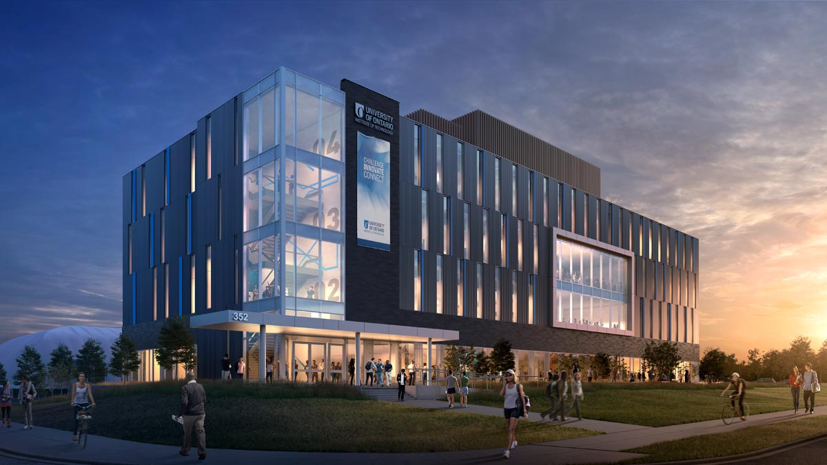 The new Software and Informatics Research Centre at the University of Ontario Institute of Technology, the first half of which is set to open next year, is being made to create new study spaces, as well as new mechatronics and electronics labs.