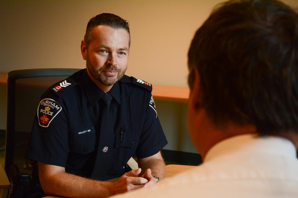 Sgt. Paul Hallet, an academic sergeant at Durham College's Police Education and Innovation Centre, says that new provincial rules on street checks will not greatly affect how Durham police officers do their job. Under the new rules, which come into effect in 2017, officers must notify people of their right to not provide information, provide that person with the reason for why they have been stopped and must provide their name and badge number if asked.