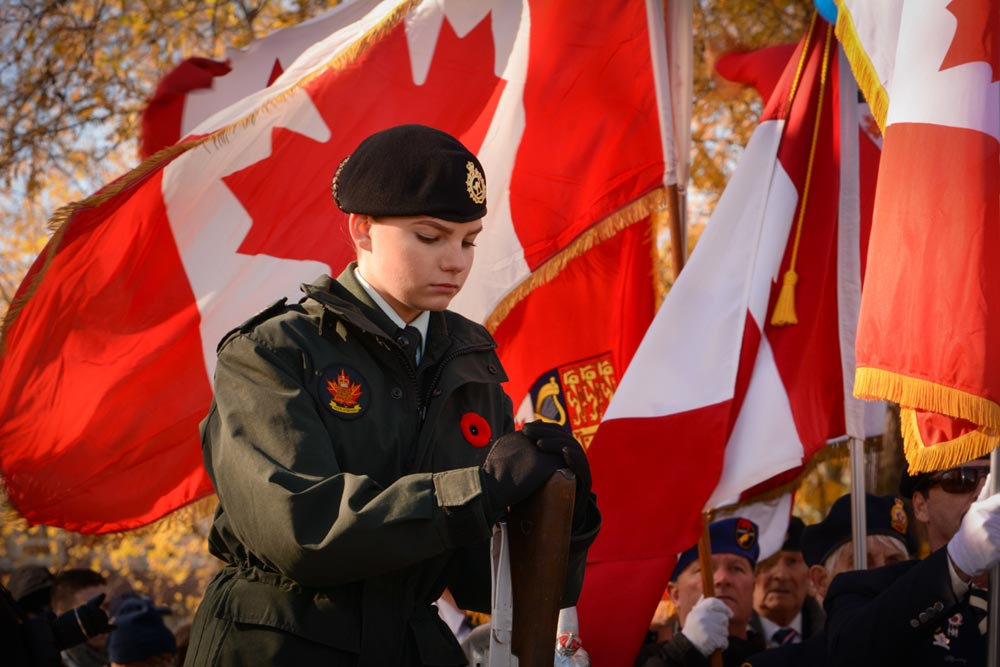 Hundreds of people made their way to Memorial Park on Nov. 11 for the city's annual Remembrance Day ceremonies.