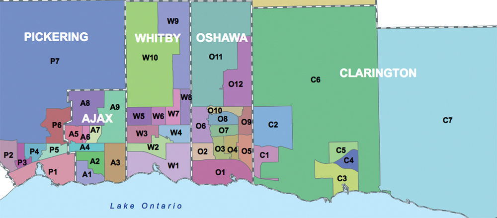 Durham Region Map Durham improving in priority areas – The Oshawa Express Durham Region Map