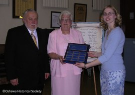 Tedd Hann, Kay Murray, and Angela Siebarth, awarding the first Earl Hann Volunteer of the Year Award
