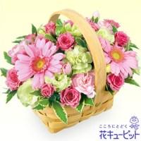 ピンクウッドバスケットアレンジ【3,500円+税】511565