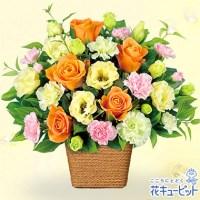 バラとトルコキキョウのアレンジメント【4,000円+税】511571