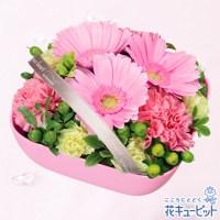 ピンクガーベラのリボンアレンジメント【3,000円+税】511830