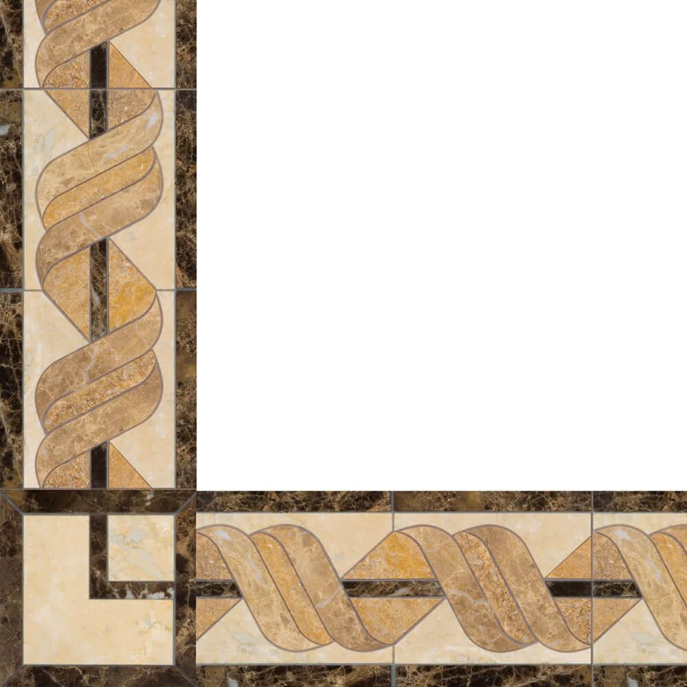 delphinus stone floor border