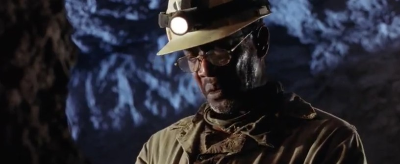 This worker in the mines with only a hard hat and coverall, as far as PPE goes.