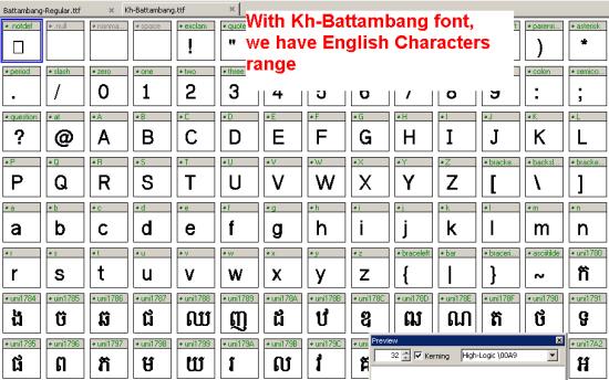 View Kh-Battambang.tff on fontcreator