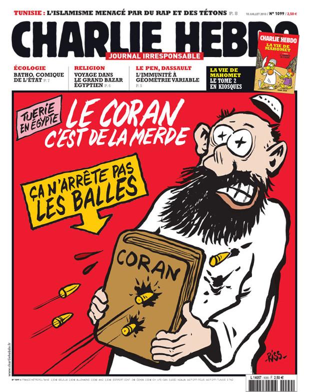 Charlie Hebdo - Korán proti kulkám nechrání