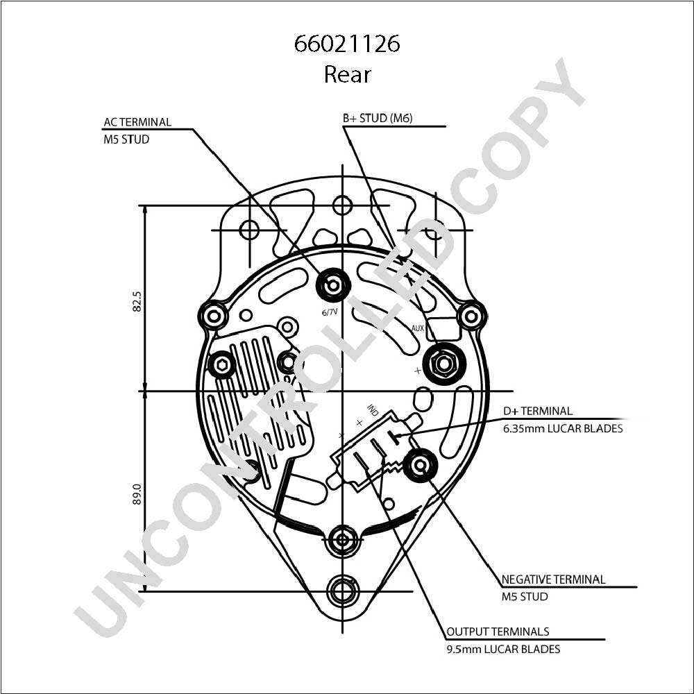 Fortable lucas alternator wiring schematic gallery electrical alternator pl oe prestolite 66021126 12v 70a ca1457