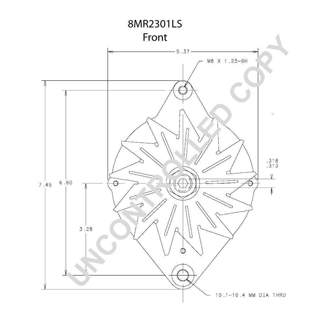 8mr2301ls prestolite leece neville alternator 12v 65 one wire alternator wiring diagram wiring motorola diagram alternator 9db2lj2b58