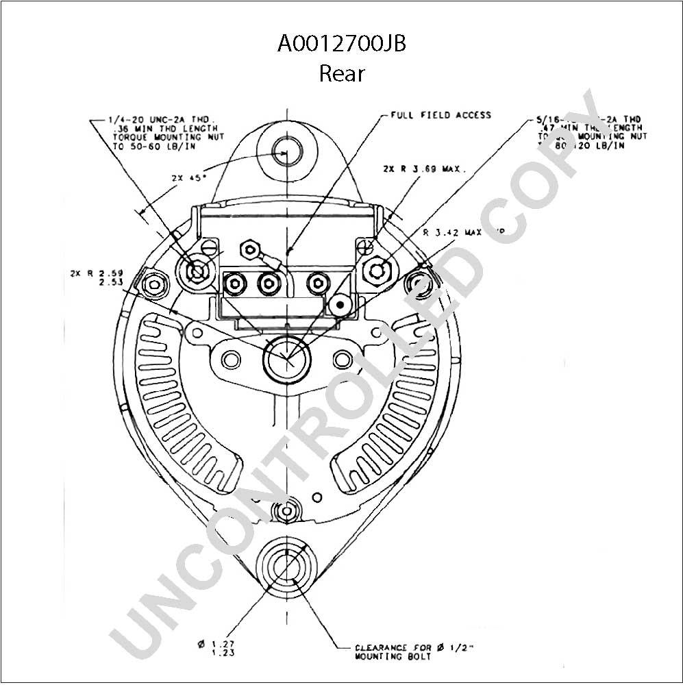 A0012700jb prestolite leece neville alternator a0012700jb