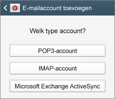 Selecteer het type account dat u wilt instellen