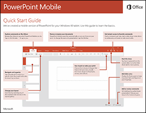 PowerPoint Mobile Quick Start Guide