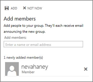 Add Members pane