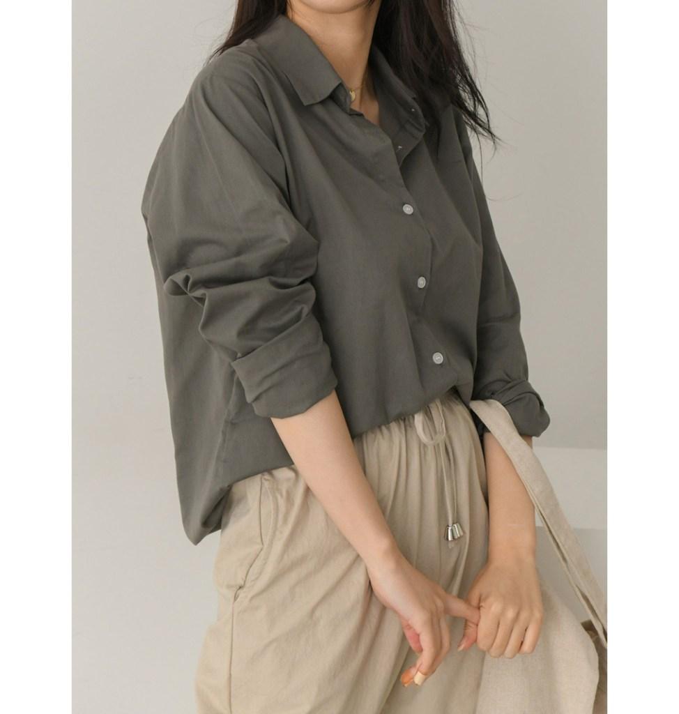 옷이날개 셔츠 베이직 심플 셔츠 코디
