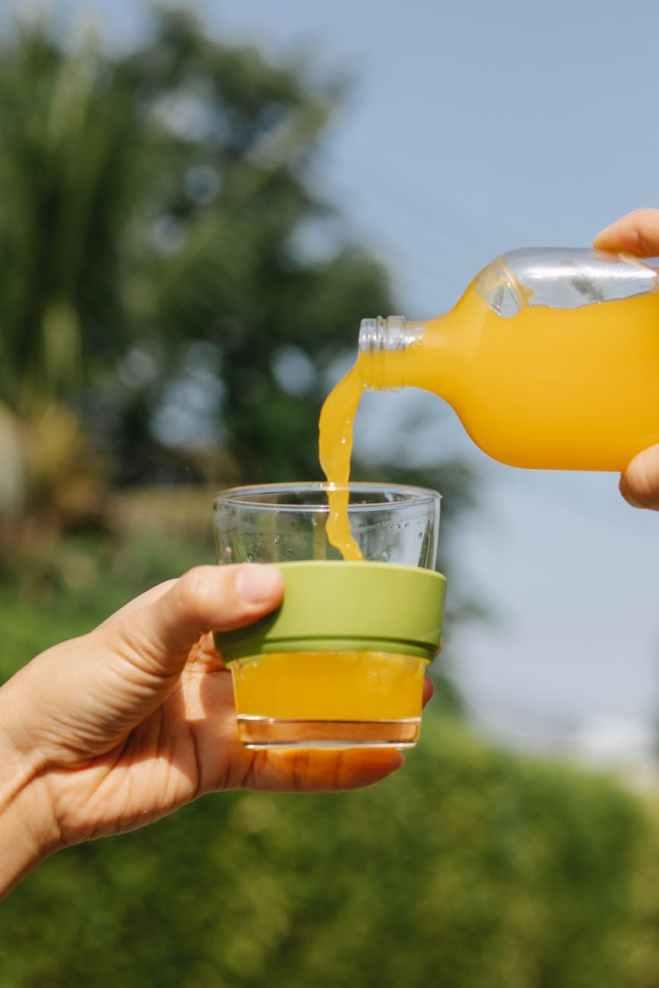 콜라겐을 주스에 섞어먹을수있다.