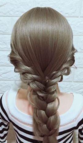라푼젤 머리처럼 묶는 방법.