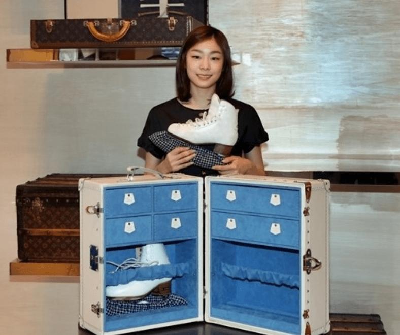 김연아의 루이비통 스케이트 트렁크 가방